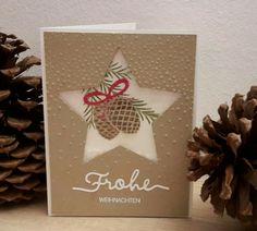 Weihnachtskarte #tannenzauber #kreativmitstempeln #stampinup