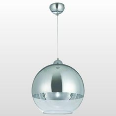 Pendente De Vidro Bola 1/2 Blumenau E27 1x60w Cromado -Casa e Segurança…