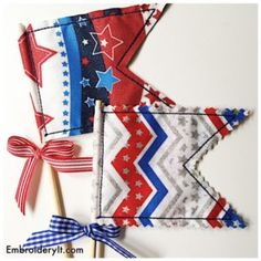 A Little In-the-hoop Machine Embroidery Decorating for the 4th of July - Embroidery It