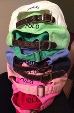 polo hats.. I want one of these but can never find one! Perfect for the beach or a bad hair day.
