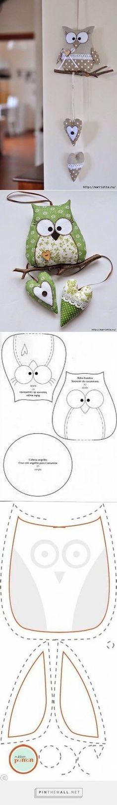 Discover thousands of images about Patchwork toys, pillows Hobbies And Crafts, Diy And Crafts, Arts And Crafts, Owl Patterns, Sewing Patterns, Sewing Toys, Sewing Crafts, Craft Projects, Sewing Projects