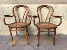 Austrian Dining Chairs from Mundus, 1920s, Set of 2 for sale at Pamono