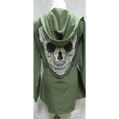 Military Lace Skull Oversized Skull Jackets Sugar Skull Trench Coat... ($62) ❤ liked on Polyvore featuring outerwear, coats, grey, women's clothing, oversized coat, parka trench coat, military fashion, parka coat and goth trench coat