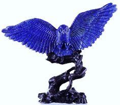 Natural Lapis Lazuli Owl Carving