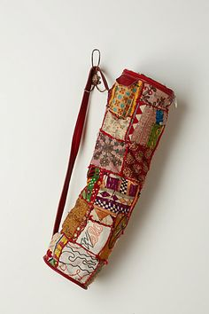 Vintage Tapestry Yoga Bag-simply lovely and it can hang by the door begging me to wake up at 6 am a strech  #anthropologie#PinToWin