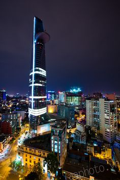 Saigon skyline with Texaco tower
