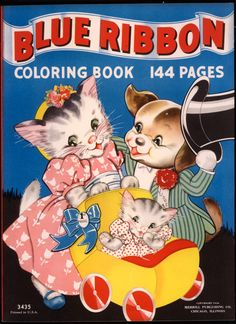"Merrill 1938 ""Blue Ribbon"" coloring book ~ ill. Florence Salter 