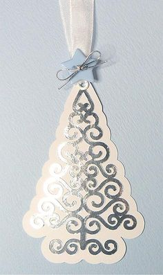 swirly christmas tree tag - TONS of free cutting files