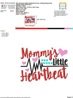 Embroidery design 5x7 6x10 Mommys little by SoCuteAppliques