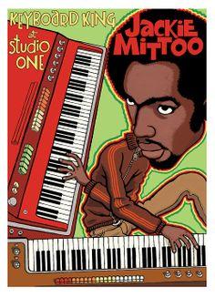 Jackie Mittoo. Artwork by: http://busterbone.tumblr.com #reggae #studioone