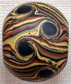 1850s Venetian Wound Bead, Picard Bead Museum.~