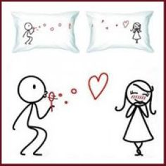 The cutest couple pillow cases - one for your loved one, one for you.