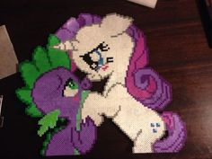 MLP Spike and Rarity perle beads by SpikesSpecialtys on deviantART
