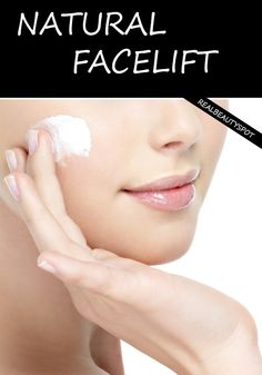 DIY natural at home facelift - 3 easy to do steps: exfoliate, tighten and moisturizer. Gorgeous younger looking skin