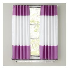 The Land of Nod | Kids Curtains: Purple and White Curtain Panels in... ($39) ❤ liked on Polyvore