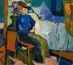 Andrè Derain - Le Modèle, c. 1904. Oil on board laid down on cradled panel, 171/8 by 191/8 in. (43.5 by 48.5cm).