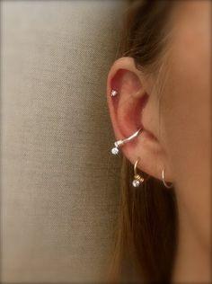 Cartilage Hoop Earring Hamsa Charm Septum Ring Diamond CZ Hamsa Tragu Hex Helix Nose Conch Rook Orbit Daith