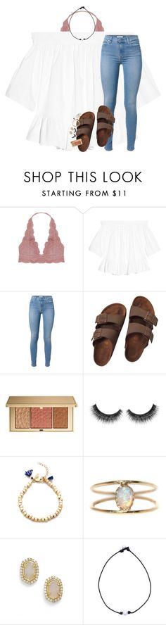 """rtd!! i am having huge problems!"" by lindsaygreys ❤ liked on Polyvore featuring Humble Chic, Elizabeth and James, Birkenstock, Estée Lauder, Shashi, LUMO and Kendra Scott"