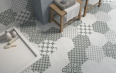 hexagonal tile kitchen - Google Search
