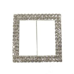 Round Rhinestone Chair Sash Buckle Silver 10//pack