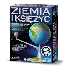 Zestaw kreatywny służy do samodzielnego wykonania przestrzennego modelu Ziemi i Księżyca.