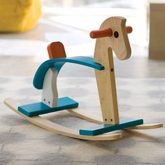 Refurbishing my childhood rocking horse.  Like the look of this one.