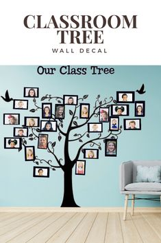 Kindergarten Classroom Décor idea. This is a fun idea for back to school. I love! You place student pictures in the frames of the tree.