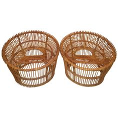 Pair of Rattan Bucket Chairs by Franco Albini for Vittorio Bonacina Antique Furniture, Modern Furniture, Rattan, Wicker, Bucket Chairs, Mid Century Chair, Art Pages, Modern Chairs, Fashion Art