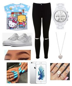 """"" by fashion-1407 ❤ liked on Polyvore featuring Hello Kitty, Miss Selfridge, NIKE, MICHAEL Michael Kors and Accessorize"