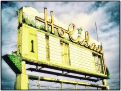 """This is how an old drive-in sign looked outside of Boulder, Colorado. Soon after I took the photo, a housing development was built nearby and the sign was """"modernized."""" It was so much more beautiful the way it was!!"""
