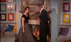 """Beautiful fireplace in the movie """"Indiscreet"""" (1958, dir. Stanley Donen) starring Cary Grant and Ingrid Bergman."""