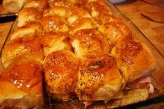 Hammy Sammies. Sweet Hawaiian Rolls- I cut the butter in half and they were still amazing!