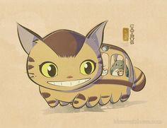 「Squishy Catbus」/「idrawrainbows」のイラスト [pixiv]