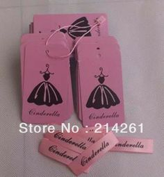 wholesale free shipping  logo  hang tag customize price  tags custom woven label with garment tag with string 1000 pcs $120.00