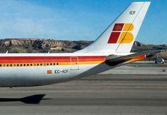 Original fotografía de la cola de uno de nuestros aviones