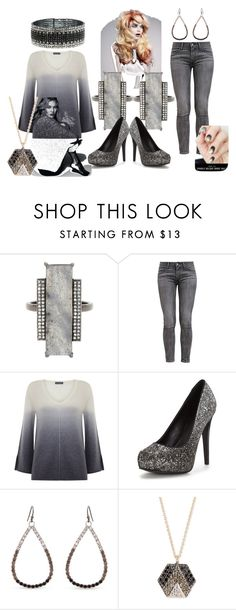 """Ombre/Grays"" by kloeyblue ❤ liked on Polyvore featuring ADORNIA, Levi's, Mint Velvet, Erica Lyons, Kismet by Milka and Anne Klein"