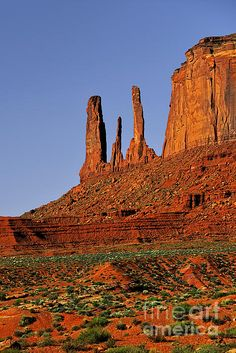 Monument Valley - The Three Sisters Photograph by Christine Till - Monument Valley - The Three Sisters Fine Art Prints and Posters for Sale fineartamerica.com - http://fineartamerica.com/featured/monument-valley-the-three-sisters-christine-till.html