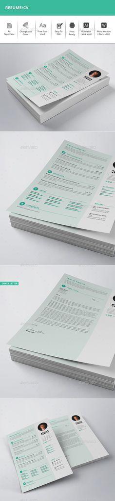 #Resume/CV - Resumes Stationery Download here: https://graphicriver.net/item/resumecv/20021680?ref=alena994