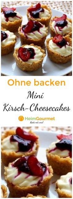 Mini-Kirsch-Cheesecakes ohne Backen - so geht's