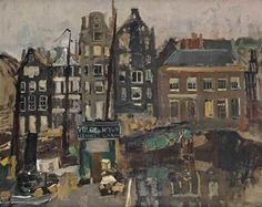b77deb867e9 George Hendrik Breitner (Rotterdam Amsterdam) A view of the Damrak with the  backside of the Warmoesstraat, Amsterdam signed 'G H Breitner' (lower  right) oil ...