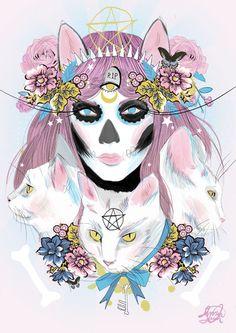 http://www.juxtapoz.com/illustration/the-vibrant-work-of-jessica-singh