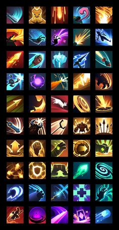 ArtStation - Skill Icons for Gigantic, Nick Wiley Gui Interface, Card Ui, Game Ui Design, Cool Lego Creations, Game Icon, Game Assets, Magic Art, Dark Fantasy, Pixel Art