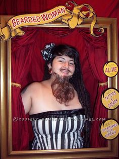 Cool Bearded Lady Costume – Circus Sideshow Performer… Coolest Halloween Costume Contest