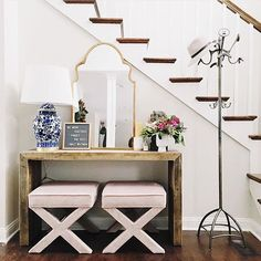 Sealed with an xx.  [Tap the link in our profile to shop the look of @melissaoholendt's chic entryway.] #myoklstyle #regram