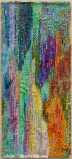 The Alternation of Seasons/Summer, x beautiful machine embroidery and fabric manipulation by textile artist Ludmila Aristova Textile Fiber Art, Textile Artists, Pocket Letter, Creative Textiles, Quilt Modernen, Quilt Art, Landscape Quilts, Wow Art, Fabric Manipulation