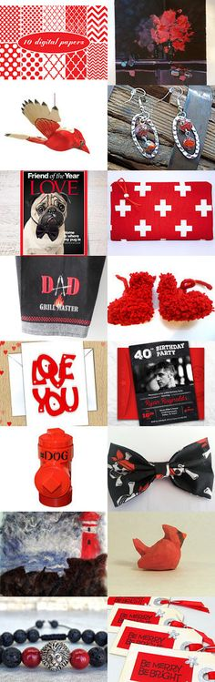 Friday's Reds and Blacks .... by riagr on Etsy--Pinned+with+TreasuryPin.com
