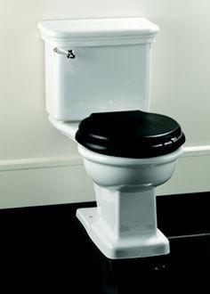white toilet with black seat. I like the black toilet seat Kohler one piece  Nix Favs Pinterest Black