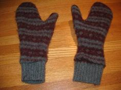 Felted Mittens From Recyled Sweaters...This Is Ridiculously Easy!!!...Click On Picture For Step By Addictive Step For TUTORIAL...
