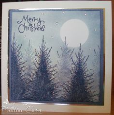 Passion for Papercraft: Penny Black Saturday # 203 - Monochrome Magic  Penny Black - Before the Snow