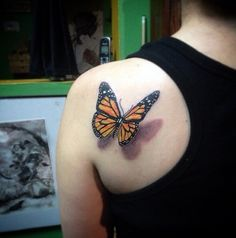 2. This butterfly looks like it could fly away at any second.